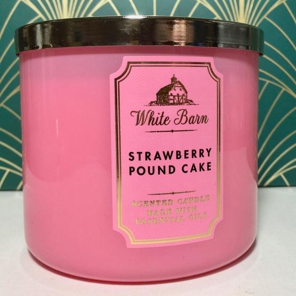STRAWBERRY POUND CAKE 3 Wick Candle